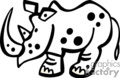 black and white spotted rhino gif