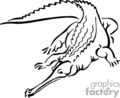 alligator gator gators alligators croc crocodiles   anmls013b_bw clip art animals  gif