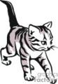 Gray kitten with tabby stripes