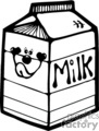 Black and white smiley face milk box
