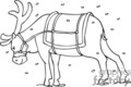 black and white santa's reindeer in the snow gif