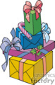 colorful stack of presents with big bows gif