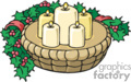 christmas candle wrapped with holly berry garland gif