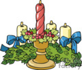 Christmas Garland and Candles