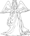 black and white angel holding a candle gif