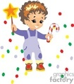 a little boy holding a christmas star and a candy cane gif, jpg, eps