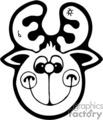 black and white reindeer