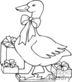 black and white holiday goose gif