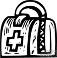 black and white doctor's bag