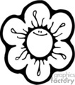 flower flowers nature daisy   flowers004b clip art nature flowers  gif, jpg, eps