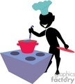 shadow people work working occupations cook cooking chef oven restaurant food   occupation022 clip art people occupations  gif, jpg, eps