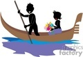 shadow people work working occupations boat boats canoe canoes transportation   occupation048 clip art people occupations