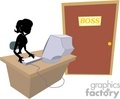 shadow people work working occupations secretary boss receptionist office business   occupation056 clip art people occupations