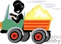 shadow people work working occupations truck trucks transportation load hauling   occupation142 clip art people occupations  gif, jpg, eps