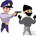 police policeman officer officers cop cops law thief crook criminal   1004police004 clip art people police-firemen