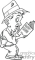 pi private investigator detective police clues searching magnifying glass crime reading   private010_bw clip art people police-firemen  gif