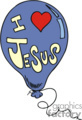 Blue I love Jesus balloon
