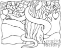 drawing of the serpent in the tree of knowledge