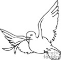 christian religion religious dove doves bird birds lds   christian_ss_bw_130 clip art religion christian