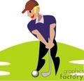golf golfer golfers golfing   1004golf005 clip art sports golf  gif, jpg