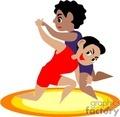 cartoon wrestling gif, jpg