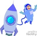 spaceman and spaceship