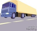 truck trucks autos vehicles semi semis big rigs 18 wheeler   transportb010 clip art transportation land