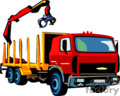 heavy equipment construction truck trucks crane   transport_04_057 clip art transportation land  gif