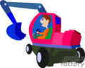 heavy equipment construction truck trucks tractors tractor front loader   transport_04_082 clip art transportation land  gif