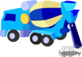 heavy equipment construction truck trucks cement   transport_04_087 clip art transportation land  gif