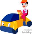 cartoon steamroller gif