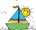 country style sailboat sail boat boats water sailing sunshine   boat001pr_c clip art transportation water