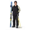 Teenage Boy Getting Ready to Go Skiing