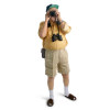tourist travelling excursionist vacationist beach sea summer binoculars camera focus shorts yellow shirt espadrille   3h0003lowres photos people