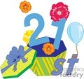 birthday birthdays anniversary anniversaries celebration celebrate 21 21st gif, png, jpg, eps