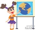 little girl pointing at a map in the classroom gif, png, jpg, eps