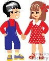 Two Little Kids Boy and Girl Holding Hands