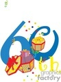 birthday birthdays anniversary anniversaries celebration celebrate 60 60th gif, png, jpg, eps