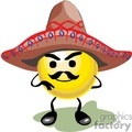 mustache smiley wearing a sombrero gif, png, jpg, eps