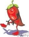 Dancing chili pepper