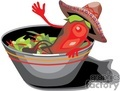 Chili pepper sitting in a salad bowl