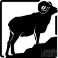 vector vinyl-ready vinyl ready black white animals animal ram rams mountain mountains gif, png, jpg, eps