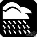 Black and white rain cloud