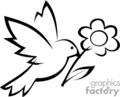 bird carrying a flower gif, png, jpg, eps