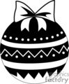 decorative black and white christmas ball ornament