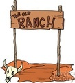The old Ranch wooden sign