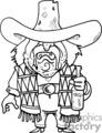 drunk cowboy drawing
