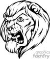 lion roaring mascot
