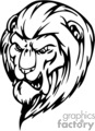 vector vinyl-ready eps png gif jpg vinyl ready black white lion lions mad anger angry mean head face faces heads logo logos design tattoo tattoos gif, png, jpg, eps