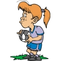 Female soccer player.
